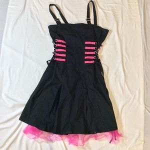 Black and Pink Tripp NYC corset Dress sz Large